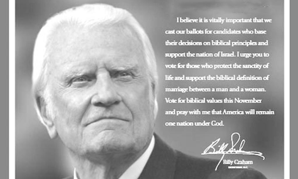 Billy Graham Vote Biblical